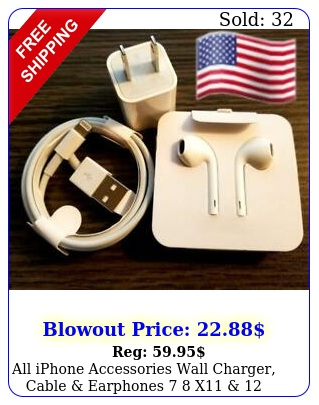 all iphone accessories wall charger cable earphones  x