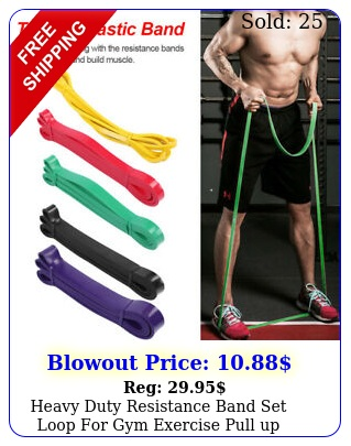 heavy duty resistance band set loop gym exercise pull up fitness workout yo