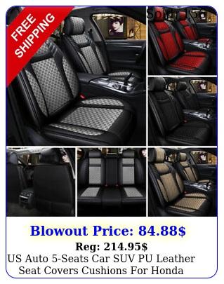 us auto seats car suv pu leather seat covers cushions honda accord civi