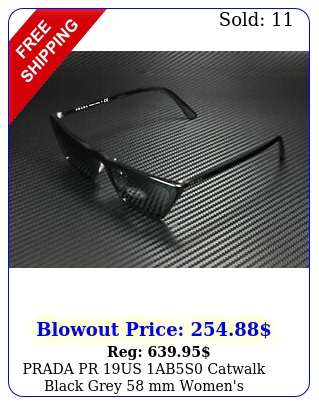 prada pr us abs catwalk black grey mm women's sunglasse