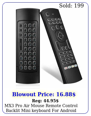 mx pro air mouse remote control backlit mini keyboard android smart t