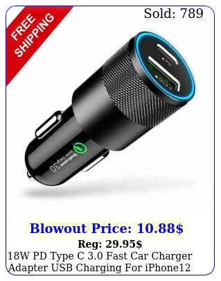 w pd type c fast car charger adapter usb charging iphone pro ma