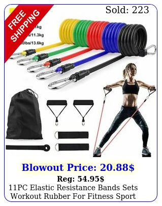pc elastic resistance bands sets workout rubber fitness sport exercis
