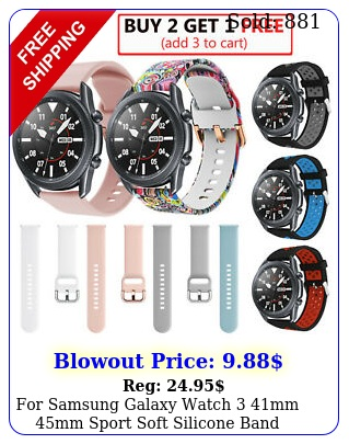 samsung galaxy watch mm mm sport soft silicone band replacement stra