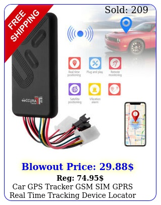 car gps tracker gsm sim gprs real time tracking device locator truck vehicl