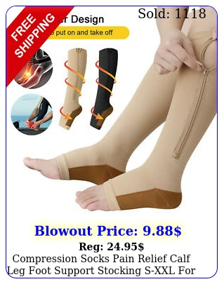 compression socks pain relief calf leg foot support stocking sxxl men wome