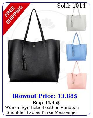 women synthetic leather handbag shoulder ladies purse messenger satchel tote ba