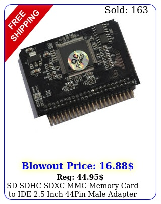 sd sdhc sdxc mmc memory card to ide inch pin male adapter converter trend