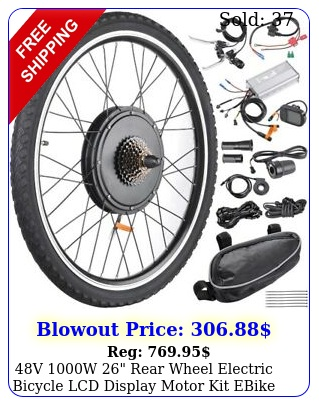 v w rear wheel electric bicycle lcd display motor kit ebike conversio