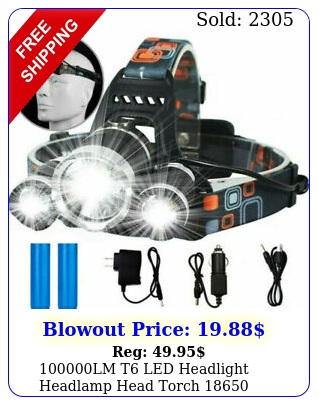 lm t led headlight headlamp head torch flashlight work light lam