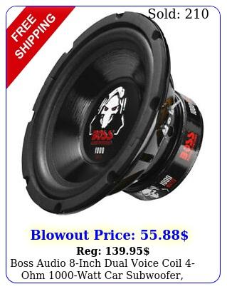 boss audio inch dual voice coil ohm watt car subwoofer blac