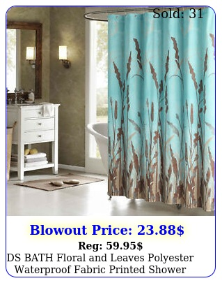 ds bath floral leaves polyester waterproof fabric printed shower curtai