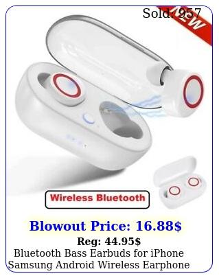 bluetooth bass earbuds iphone samsung android wireless earphone waterproo
