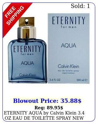 eternity aqua by calvin klein oz eau de toilette spray in me