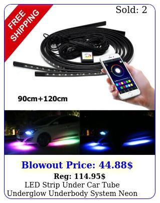 led strip under car tube underglow underbody system neon light kits app contro
