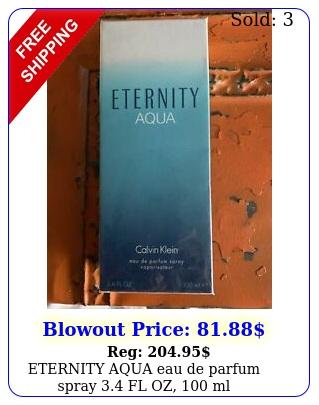 eternity aqua eau de parfum spray fl oz m