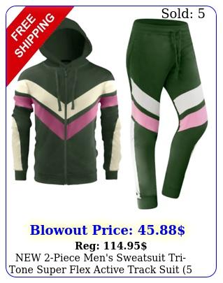 piece men's sweatsuit tritone super flex active track suit lef