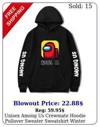 unisex among us crewmate hoodie pullover sweater sweatshirt winter kids siz