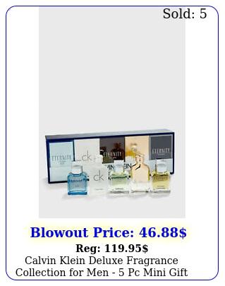 calvin klein deluxe fragrance collection men  pc mini gift set ni