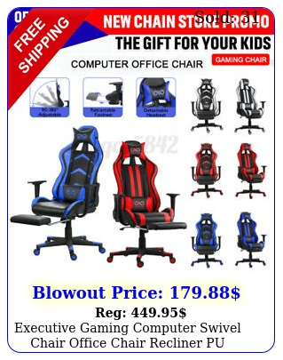 executive gaming computer swivel chair office chair recliner pu leathe
