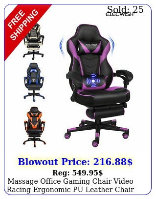 massage office gaming chair video racing ergonomic pu leather chair wfootres