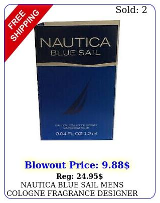 nautica blue sail mens cologne fragrance designer sample spray ml gif