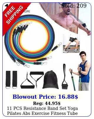 pcs resistance band set yoga pilates abs exercise fitness tube workout band