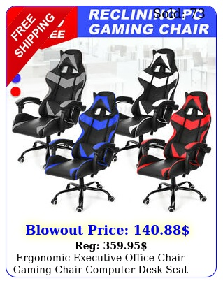ergonomic executive office chair gaming chair computer desk seat swivel recline