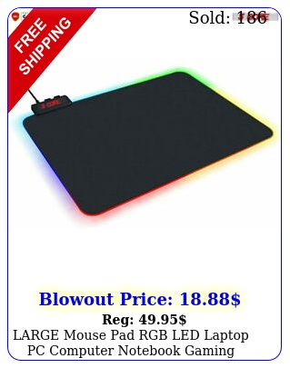 large mouse pad rgb led laptop pc computer notebook gaming glowing mode
