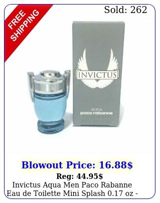 invictus aqua men paco rabanne eau de toilette mini splash oz i