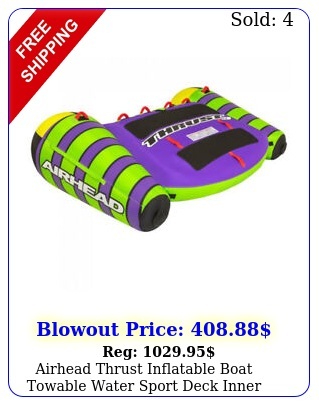 airhead thrust inflatable boat towable water sport deck inner tube rider