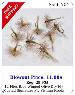 flies blue winged olive dry fly mustad signature fly fishing hook