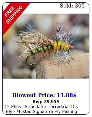 flies  stimulator terrestrial dry fly mustad signature fly fishing hook