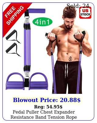 pedal puller chest expander resistance band tension rope fitness home workout u