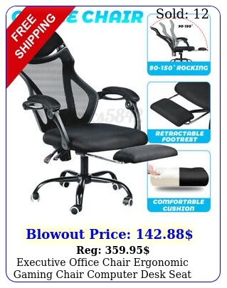 executive office chair ergonomic gaming chair computer desk seat swivel recline
