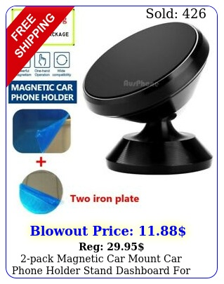 pack magnetic car mount car phone holder stand dashboard cell phon