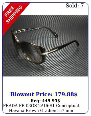 prada pr os aus conceptual havana brown gradient mm women's sunglasse