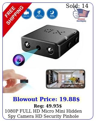 p full hd micro mini hidden spy camera hd security pinhole cam night visio