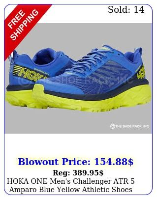 hoka one men's challenger atr amparo blue yellow athletic shoes origina