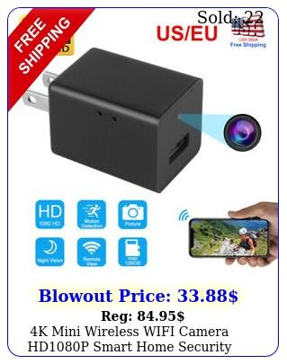 k mini wireless wifi camera hdp smart home security camera usb wall charge
