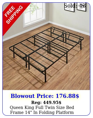 queen king full twin size bed frame in folding platform mattress foundatio