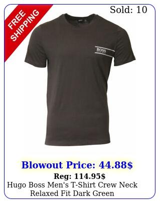 hugo boss men's tshirt crew neck relaxed fit dark gree