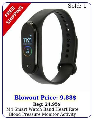 m smart watch band heart rate blood pressure monitor activity tracker wristban