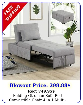 folding ottoman sofa bed convertible chair in multifunction sleeper sof