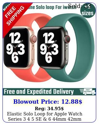 elastic solo loop apple watch series  se  mm mm mm mm band