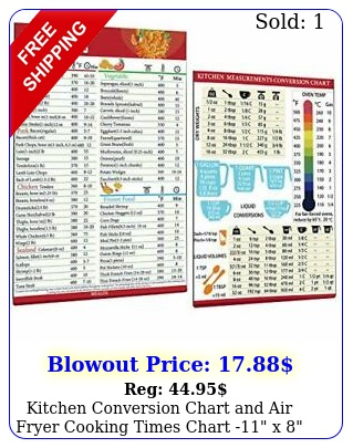 kitchen conversion chart air fryer cooking times chart x cooking ch