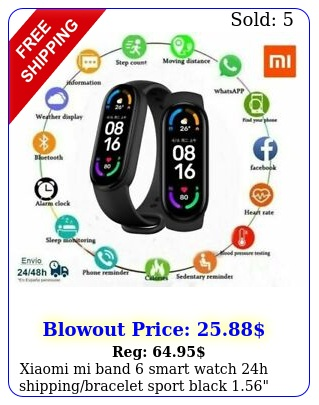 xiaomi mi band smart watch h shippingbracelet sport blac