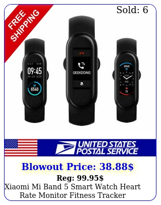 xiaomi mi band smart watch heart rate monitor fitness tracker waterproof at
