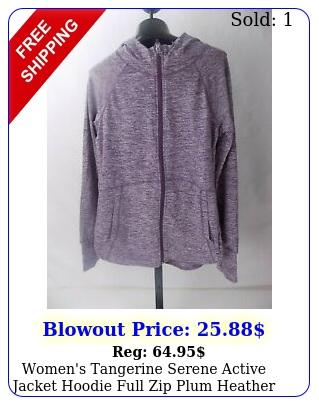 women's tangerine serene active jacket hoodie full zip plum heather larg