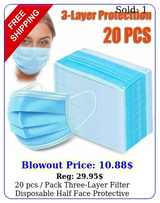 pcs pack threelayer filter disposable half face protective masks cove
